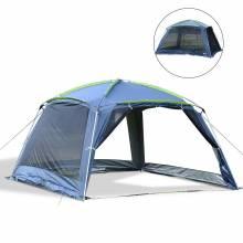 Preciosa carpa plegable para camping color azul oscuro 360x355x215cm