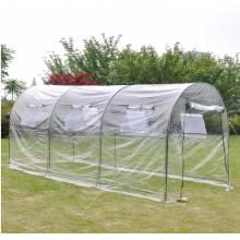 Invernadero de Plastico estilo caseta con medidas 350x200x200cm en acero para cultivo plantas