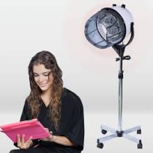 Casco secador ideal para peluqueria con soporte y campana con potencia de 1100 W