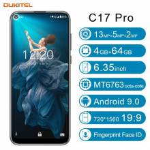 "Movil chino OUKITEL C17 Pro pantalla 6,35"" Android 9,0 MTK6763 Octa Core 4G RAM 64G ROM doble 4G LTE"