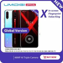 "Movil chino UMIDIGI X Versión Global pantalla 6,35"" AMOLED 48MP Triple cámara trasera 128GB NFC bateria 4150mAh"