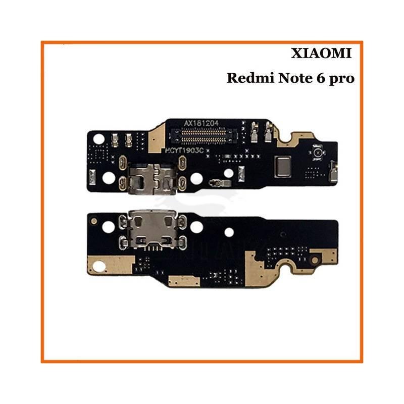 Repuesto placa USB cargador de enchufe para movil chino Xiaomi Redmi Note 6 Pro