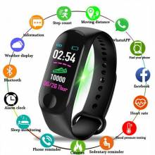 Pulsera inteligente china M3 Plus Frecuencia Cardíaca presión arterial impermeable bluetooth fitness