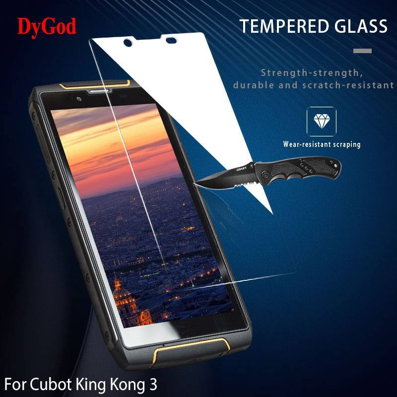 2 Unidades de protector de pantalla vidrio templado de alta calidad para movil chino Cubot King Kong 3