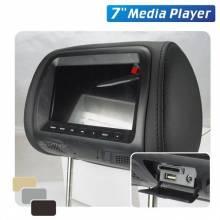 Reposacabezas universal con monitor reproductor multimedia de 7 pulgadas AV USB SD MP4