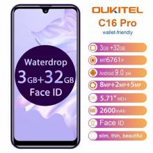 "Movil chino OUKITEL C16 Pro pantalla 5,71"" Android 9,0 MT6761P Quad 3GB RAM 32GB ROM 4G LTE"