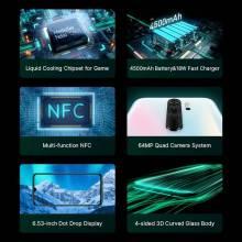 Movil chino Xiaomi Redmi Note 8 Pro Versión Global 6GB 64GB 64MP Quad MTK Helio G90T Octa Core bateria 4500mAh NFC