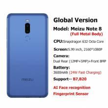 Movil chino Meizu Nota 8 4GB 64GB versión Global Snapdragon 632 Octa Core doble cámara trasera