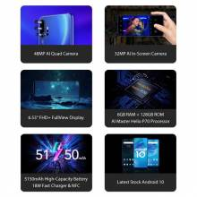 "Movil Chino Global versión UMIDIGI F2 Android 10 pantalla 6,53"" FHD + 6GB 128GB 48MP bateria 5150mAh"