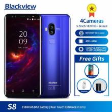 "Movil chino Blackview a S8 pantalla 5,7"" 4GB + 64GB MT6750T Dual SIM huella OTG 4G LTE"
