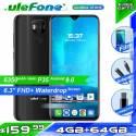 "Movil chino Ulefone Power 6 bateria 6350mAh Android 9,0 Helio P35 Octa Core 4GB RAM 64GB ROM pantalla 6,3 "" NFC 4G"