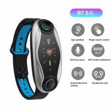 Pulsera inteligente china T90 BT5.0 auriculares pantalla 0,96 TFT Smart Watch IP67 resistencia al agua frecuencia cardíaca