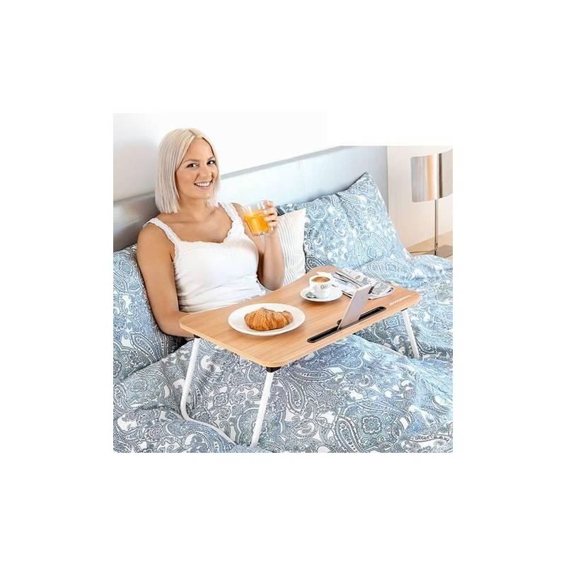 Preciosa mesa plegable auxiliar multiusos para el hogar