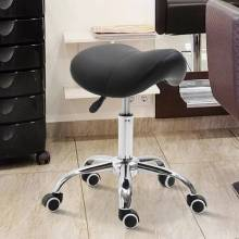 Taburete silla de ruedas giratoria para trabajos de cosmetica