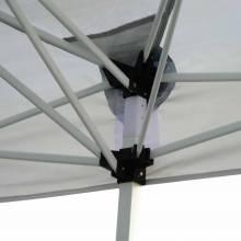 Preciosa carpa plegable estilo pabellón gazebo y mosquitera en color blanco