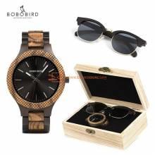 Conjunto de reloj madera BOBO BIRD y gafas de sol en madera ideal para regalo