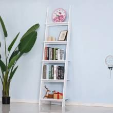 Estantería modelo escalera y librería con 5 peldaños escalonados para pared