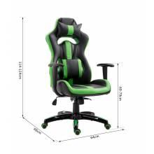 Preciosa silla gaming ergonómica y estilo racing ejecutivo giratorio 360° color verde