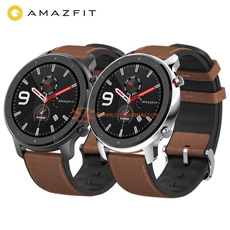 Reloj inteligente Amazfit GTR 47mm para hombre y mujer con GPS 5ATM impermeable 24 días batería para IOS y Android