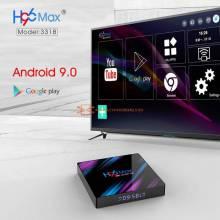 Tv box LEMFO h96 tv inteligente Android 9,0 RK3318 4GB 32GB 64GB 4K HDR 2,4G 5G Wifi BT4.0 USB 3,0 con Google asistente de voz