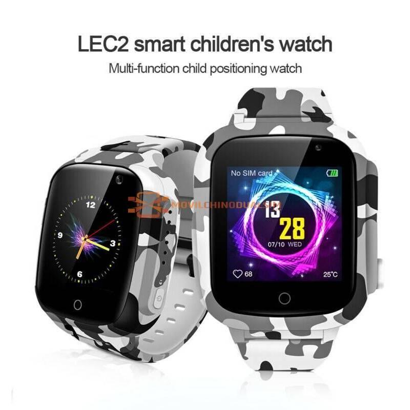 Reloj inteligente LEMFO LEC2 Pro con 4G para niños con GPS WIFI bateria 650mah IP67 soporte impermeable