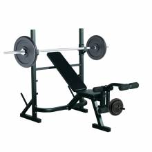 Banco de pesas para entrenamiento y musculación en color negro
