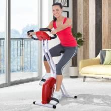 Bicicleta de Fitness Plegable Asiento Ajustable Resistencia Regulable Carga 110kg