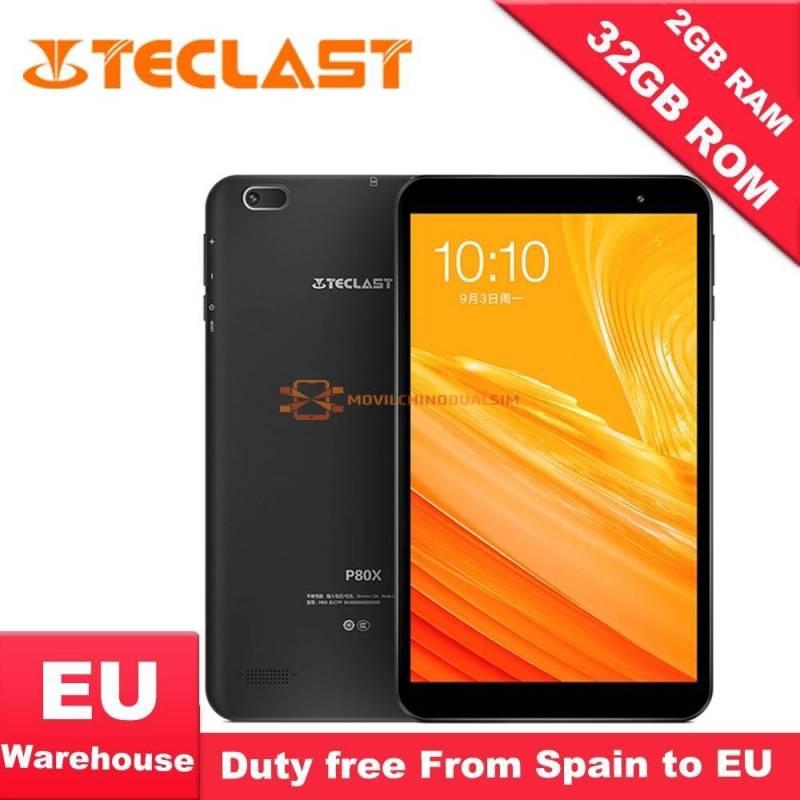 Tablet china Teclast P80X 4 GT Android 9,0 SC9863A IMG GX6250 pantalla 8 pulgadas 1280x800 IPS Octa Core 1,6 GHz 2 GB de RAM
