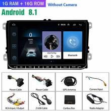 "Reproductor multimedia 9"" Android 2 din Radio de coche GPS navegación para VW Volkswagen SKODA GOLF 5 Golf 6 POLO"