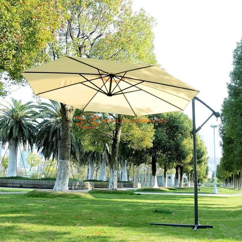 Gran Parasol de Jardín tamaño Φ300 x 260 color blanco crema