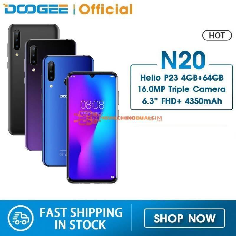Movil chino DOOGEE N20 pantalla 6.3 pulgadas FHD  pantalla 16MP Triple camara trasera 64GB 4GB