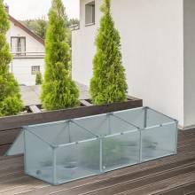 Invernadero de huerto urbano en aluminio policarbonato transparente