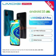 Movil chino UMIDIGI A7 Pro Quad Android 10 OS pantalla 6.3 FHD 64GB o 128GB ROM