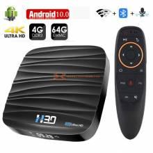 TV Box Android 10.0 4GB 32GB 64GB 4K H265 3D Video 24G 5GHz Wifi Bluetooth RK3318