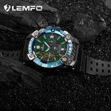 Reloj inteligente LEMFO LEM hombre con auriculares Bluetooth 360*360 pantalla HD ritmo cardaco LEM D