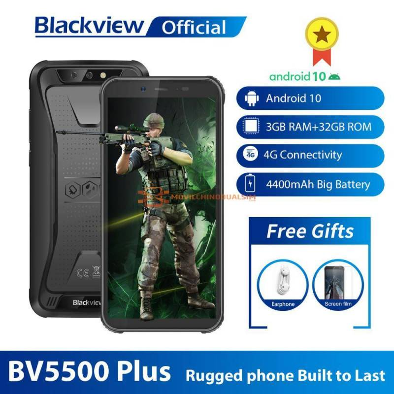 Movil chino Blackview BV5500 Plus 2020 IP68 impermeable 4G 3GB 32GB Android 10.0