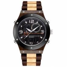 Reloj de madera sensor para hombre estilo deportivo y moderno