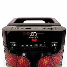 Altavoz Bluetooth Karaoke Portatil Radio / FM / MP3 Inalambrico Recargable con USB Luz LED Modo Pop Rock Classic Jazz