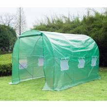 Invernadero Caseta Nuevo Verde Acero Plastico 350 x 200 x 200cm