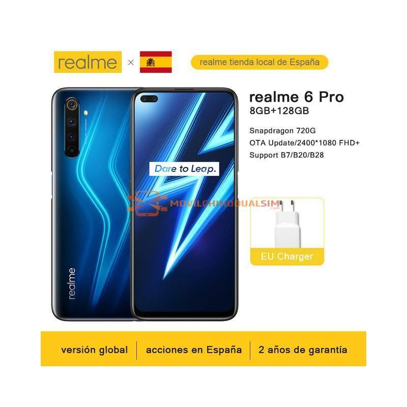 Movil chino Realme 6 pro pantalla 6.6 8 GB RAM 128 GB ROM Garantía Española Oficial