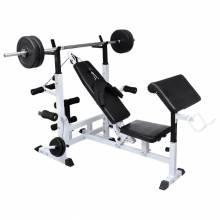 Fantastico banco musculación con soporte pesas y mancuernas de 120 kg