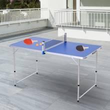 Preciosa Mesa de Ping-Pong Plegable Altura Ajustable de 3 Niveles