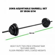 Fantastico Set barra ajustable de musculación 20 kg