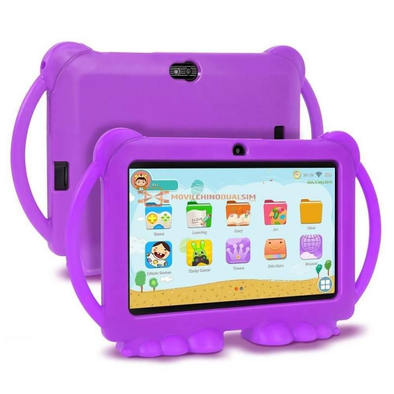 Tablet china para niños XGODY educativa de 7 pulgadas HD con funda de silicona de carga USB Quad Core 1GB