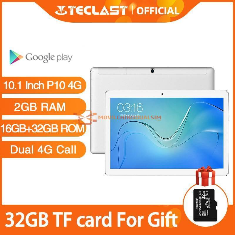 Tablet china Teclast P10 4G pantalla 10.1 pulgadas Android 8.1 MTK6737 4G GPS RAM 2G ROM 16G + 32G