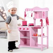 Bonita Cocina de Juguete Infantil con accesorios en madera 60x30x84,5 cm