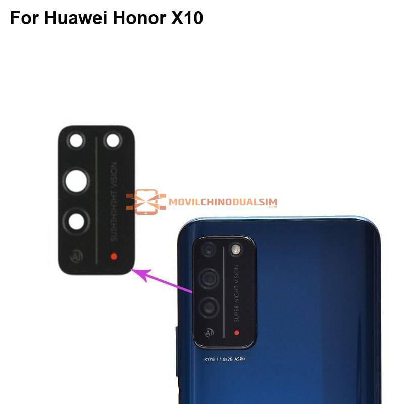 2 piezas de repuesto lente cristal camara trasera movil chino Huawei Honor X10