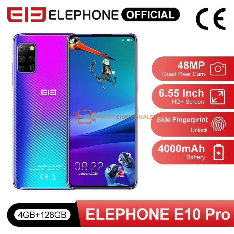 Movil chino ELEPHONE E10 Pro  4GB 128GB camara 48MP Octa Core pantalla 6,55""