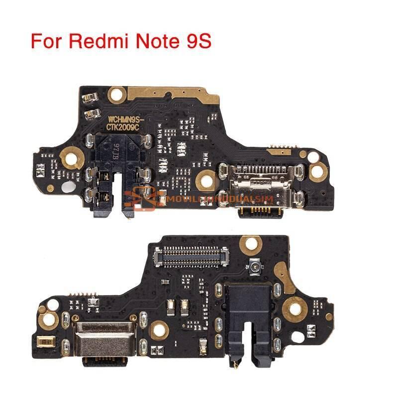 Repuesto placa USB cargador de enchufe para movil chino Redmi Note 9S