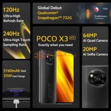 Movil chino POCO X3 NFC version Global Snapdragon 732 camara 64MP bateria 5160mAh